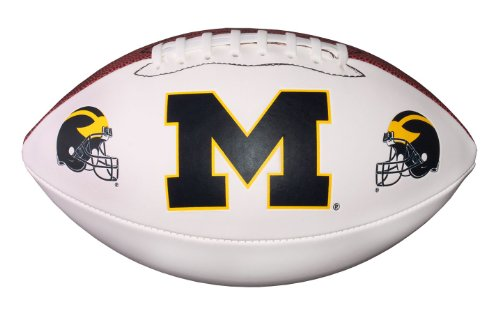NCAA Michigan Wolverines Autograph Football, Brown, Official Size (Official Ncaa Autograph Football)