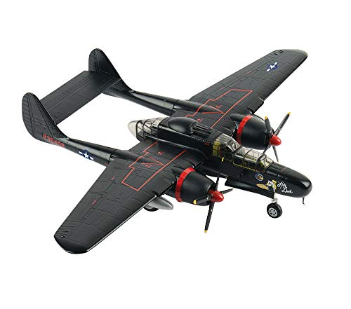 EP-Toy Aircraft Model, World War II Weapons US P-61 Black Widow Finished Simulated Alloy Model, Military Decorative Non-Souvenir Souvenirs from EP-Toy