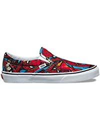 x Marvel Slip-On Sneakers (Spiderman Black) Unisex Comic...