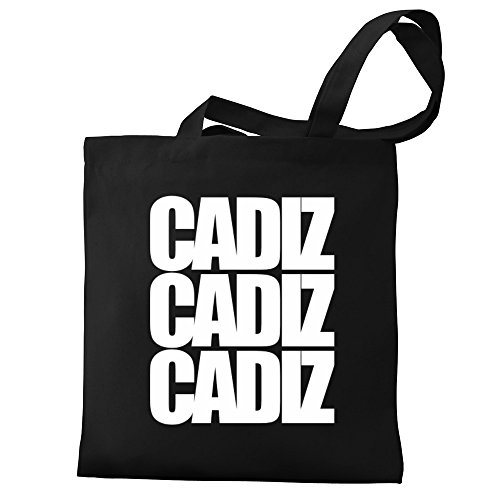 Eddany words Canvas Cadiz Eddany three Tote words Bag Canvas three Cadiz ZHwdq1