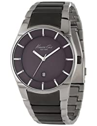 Kenneth Cole New York Men's KC9036 Slim Round Grey Ion-Plating Analog Watch
