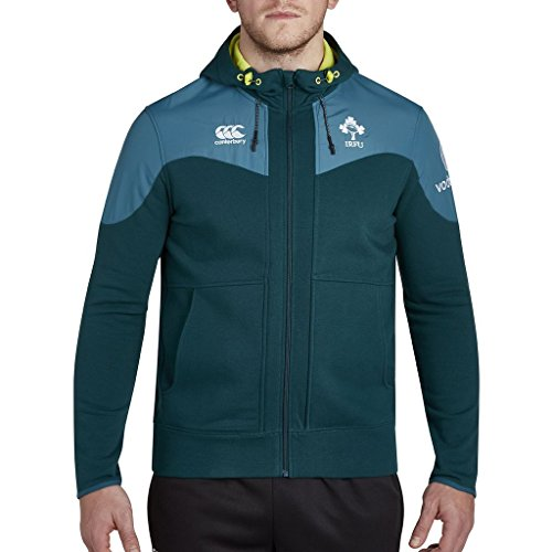 Canterbury 2017-2018 Ireland Rugby Training Full Zip Hoody (Deep Teal)