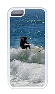 Customized Case Surf 04 TPU White for Apple iPhone 5C