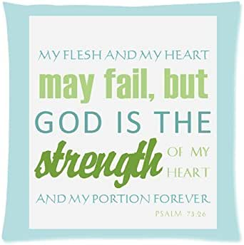 Bible Verse Comfortable Pillow Case 18x18 (Twin sides)