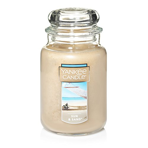 Jar Paraffin Wax Candle - Yankee Candle Large Jar Candle|Sun & Sand Scented Candle|Premium Paraffin Grade Candle Wax with up to 150 Hour Burn Time
