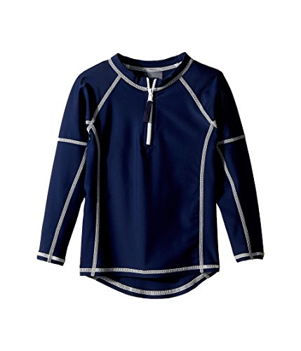 Toobydoo Unisex Navy Rashguard w/Long Sleeves (Infant/Toddler/Little Kids/Big Kids) Navy 13/14