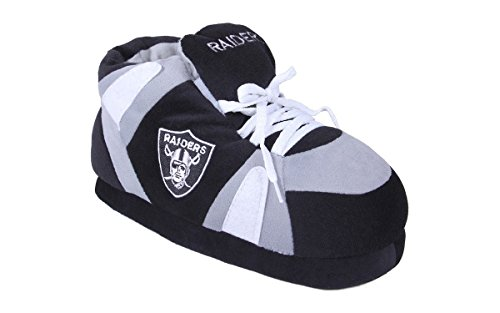 Comfy Feet OAK01-3 - Oakland Raiders - Large - Happy Feet NFL Slippers by Comfy Feet