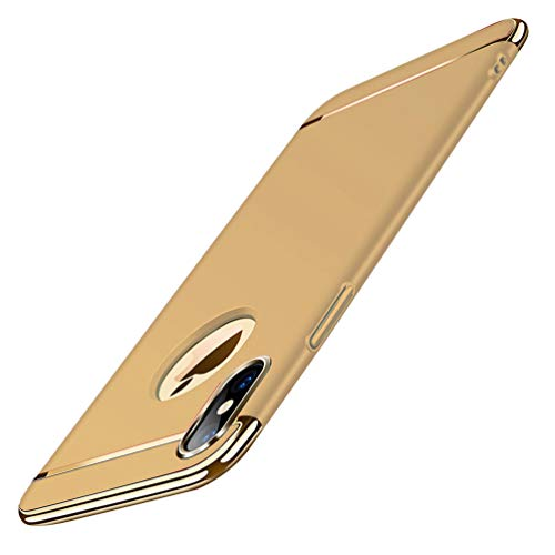 ATRAING iPhone Xs Max Case, Shockproof Thin Hard Case Cover for Apple iPhone Xs Max (Gold)