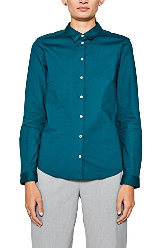 ESPRIT Camicia Donna Verde (Dark Teal Green 375)