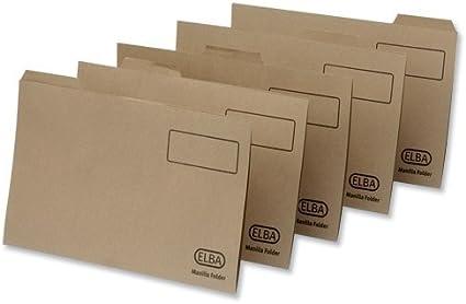 100 St/ück 100090124 Elba Economy Einstellmappe Reiter recycelt Manila, 170 g//m/², Folio-Format braun