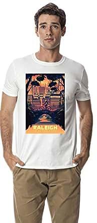 Raleigh city crew neck tshirt, White XXL