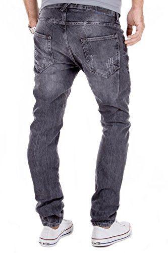 y Hombre Antracita para Moderno Modell Aspecto Vaqueros Pantalones J728 MERISH Casual Usado 74f0q4