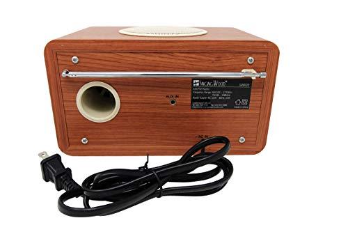 Cherry Wood SINGING WOOD SWR-20 Retro Vintage Wood AM//FM Radio