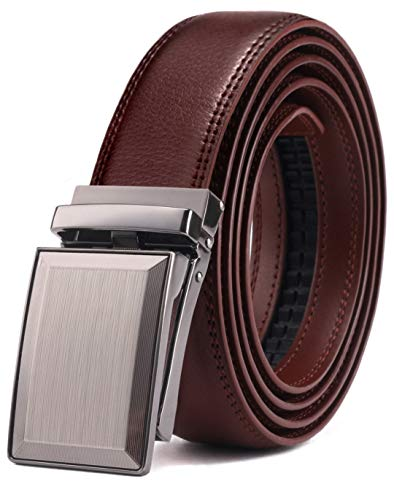 Belt for Men,Bulliant Men's Click Ratchet Belt Of Genuine Leather,Trim to Fit (Man With Woman In The Missionary Position)