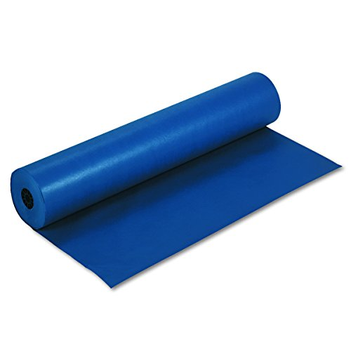 Pacon PAC63180 Rainbow Lightweight Duo-Finish Kraft Paper Roll, 3-Feet by 1000-Feet, Dark Blue (Dark Casual Finish)