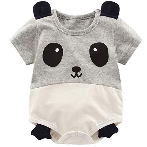 (YIJIUJIU Newborn Baby Boy Girl Short-Sleeve Bodysuit Unisex Panda Style Onesies Clothes 3-6)