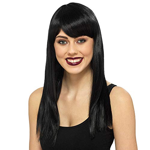 Claire's Girl's Black Medium Length Wig - Halloween Fancy Dress Witch Vampire Wig