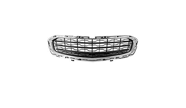HEADLIGHTSDEPOT Front Grille Chrome//Silver Compatible with Nissan Sentra 2013-2015 Except SR Models