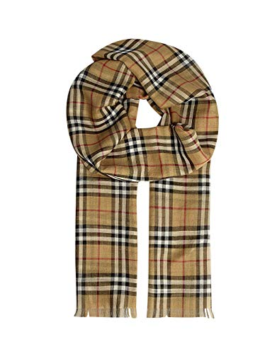 Burberry Vintage Check Gauze Unisex Lightweight Scarf