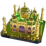 Celebration Gift Taj Mahal Miniature Show Piece Made of Crystal Gold Medium Size