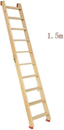 DY Escala de Madera, Escalera Plegable, del Lado del Doble Loft Escaleras, Multi-función de Hogares Recta Escalera Escalera Portátil Escalada al Aire Libre (Size : 1.5m): Amazon.es: Hogar