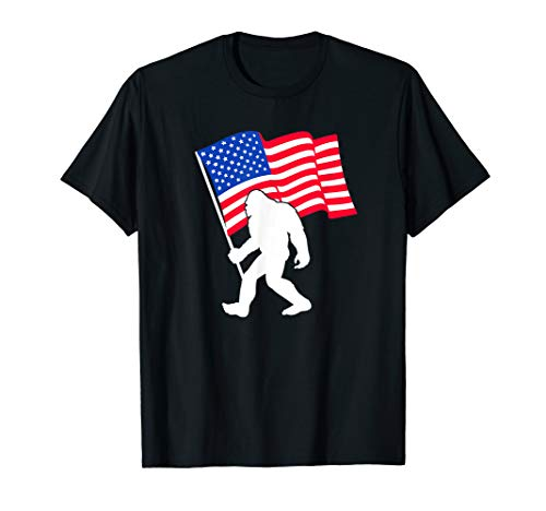 BigFoot weaving USA Flag T shirt Patriot