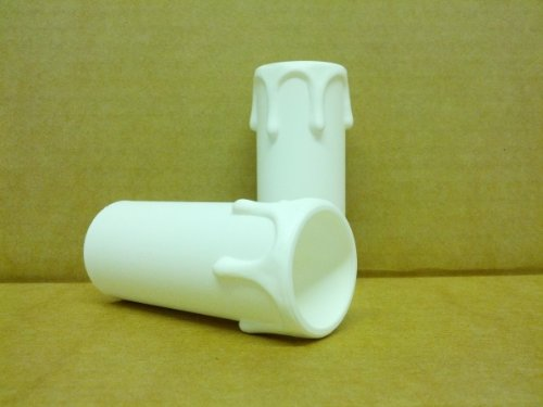 5 x White Plastic Candle Drip 67mmx28mm