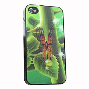 YULIN 3D Effect Butterfly Pattern Hard Case for iPhone 4/4S