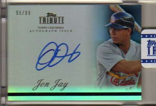 2012 Topps Tribute Autographs #JJ2 Jon Jay Autograph Card Serial #'d/99