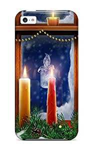 fenglinlinChristmas Lighting Candles Durable ipod touch 5 Tpu Flexible Soft Case