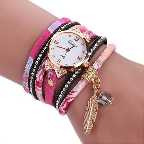e Leaf Pendant Bracelet Women Watch Fashion Lady Dress Rhinestone Quartz Watches 5 Color Bowknot Design Sweet Girls Gift -