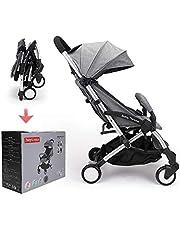 Silla de paseo Babythrone Compacta y Ligera Cochecito de Portátil Plegable 0-4 años (Gris)