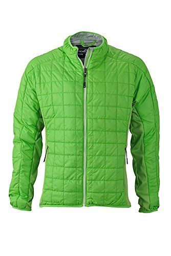 Hybrid Men's Sportivi In Materiali Spring silver Jacket Imbottitura Leggera Con green Di Giacca Mix wZzgZUq