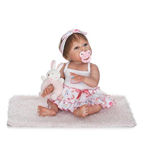 Nicery Reborn Baby El renacimiento de la mu/ñeca de alto vinilo Magnetic Mouth 20 pulgadas de 48-50 cm ni/ños amigo Lifelike Vivid ni/ño ni/ña juguete una chica con traje con ojos cerrado con un chupete con una manta El regalo de el