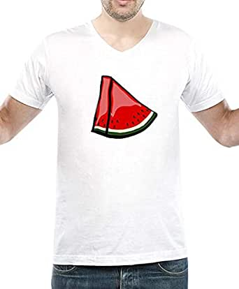 IngraveIT White Cotton V Neck T-Shirt For Men