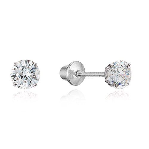 Sterling Zirconia Children Screwback Earrings product image