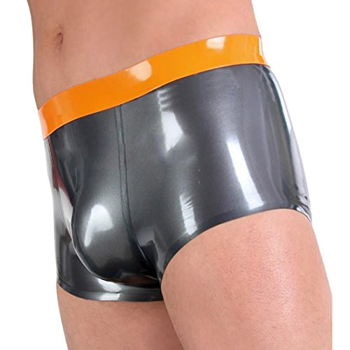 Beautylife88 #0045 Mens Latex Rubber Berif Pants Fetish Underpants for SM/CD XL