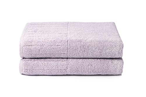 Texere 100% Organic Cotton Bath Sheets (2-Pack, Orchid Hush) Eco-Friendly Christmas Kwanza Hanukah Gift Ideas (Hanukah Gift)