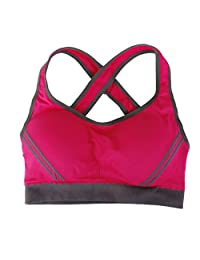 MagiDeal Women's Sport Yoga Bra Running Jogging Fitness Exercise Pad Bra Top Aerobics Dance Vest