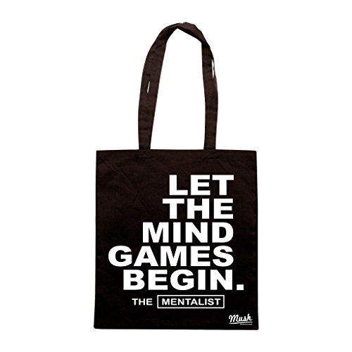 Borsa The Mentalist Let The Mind Games Begin - Nera - Film by Mush Dress Your Style