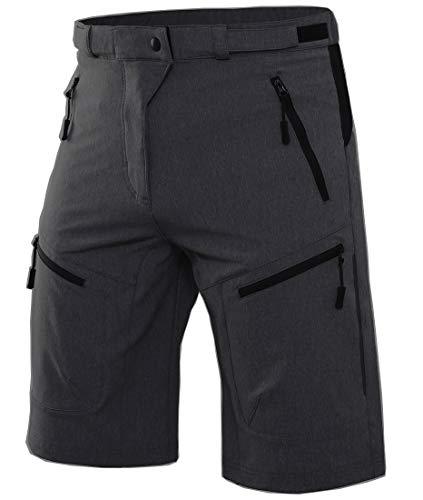 Wespornow Men's-Mountain-Bike-MTB-Cycling-Shorts (Dark-Grey, L)