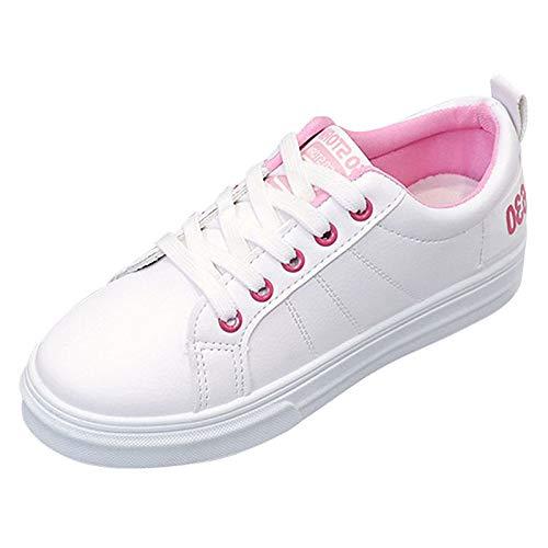 Deporte Negro Blanco Zapatillas Verano Poliuretano Blanco White de Zapatos Redonda y Pink Rosa Plano ZHZNVX de Punta Mujer con Verde de PU tacón Primavera Blanco PqR0FppHw