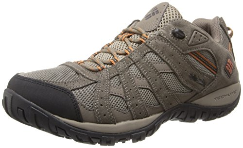 Columbia Men's Redmond Waterproof Hiking Shoe, Pebble, Dark Ginger, 12 D US (Best Low Cost Hiking Boots)