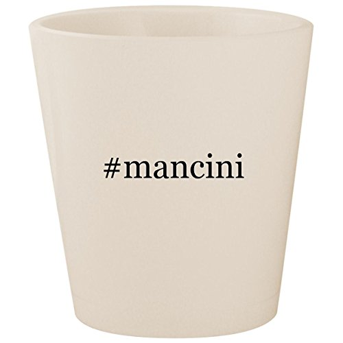 - #mancini - White Hashtag Ceramic 1.5oz Shot Glass