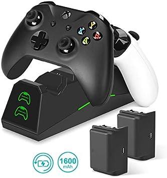 innoAura Cargador para Control de Xbox One, estación de Carga ...
