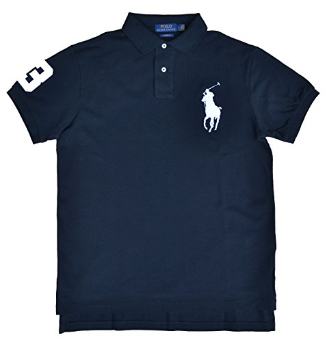 Ralph Lauren Poloshirt Polo Big Pony Schwarz Custom Fit
