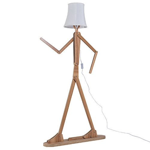 KKG Wooden Original 1.6m Ffloor Lamp Room Standing Light Variety Character...