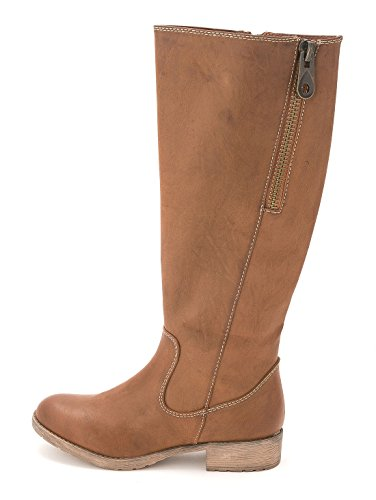 MIA Womens Cassidy Almond Toe Knee High Fashion Boots, Luggage, Size 5.0