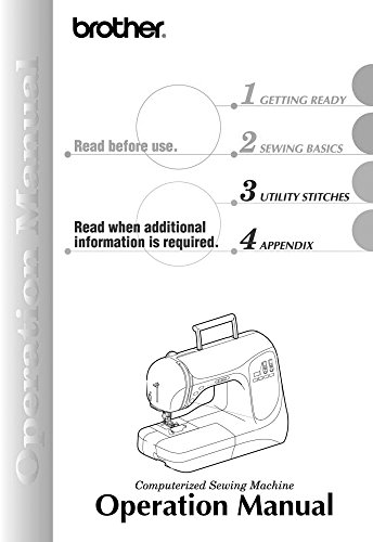 (Brother NX 200 Sewing Machine Owners Instruction Manual)