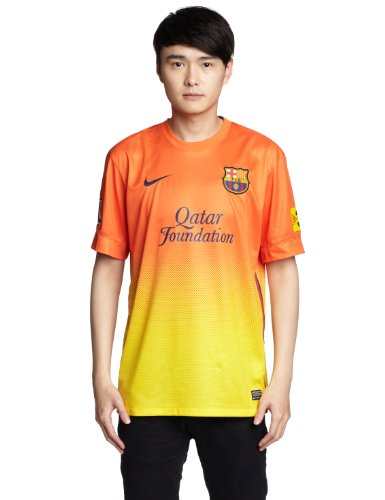 Away Maillot Barcelona Football Homme Nike orange Fc Jaune De Courtes Manches qEPCt